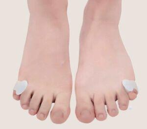 2 x Silikon Zehenspreizer kleiner Zeh Reibungsschutz Zehentrenner Hallux Valgus