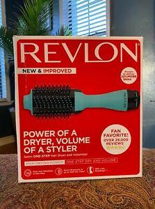 Revlon Salon One Step Volumizer Hair Dryer - Aqua Blue New In Open Box
