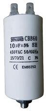 Condensateur moteur de démarrage / permanent 10µF 10uF 450V à cosses + vis CBB60