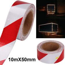 5cmX10M Reflektorband Selbstklebend Warnaufkleber Reflektorfolie Rot&Weiss