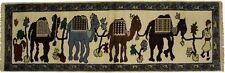 Animal Print Pictorial Design Handmade Indian Runner Oriental Rug Carpet 8X3
