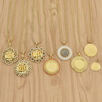 1 Pc Islamic Muslim Allah Necklace Roung Tag Pendant Charms Women Jewelry Gift