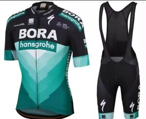 NEW Short Sleeve Men's BORA HANSGROHE CYCLING JERSEY with Short Bib