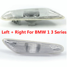 Pair Front Side Marker Light Clear Lens Left Right for BMW 1 3 Series X1 06-13