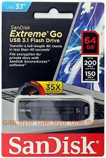 SanDisk 64 GB 64G CZ800 EXTREME GO USB 3.1 3.0 flash Thumb Drive Memory 200MB/s