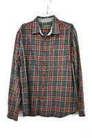 Eddie Bauer Mens Button Down Long Sleeve Red Plaid Cotton Flannel Shirt 2XL
