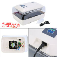 Digital Incubator Automatic Turning 24 Eggs Poultry Chicken Bird Duck Hatcher Us