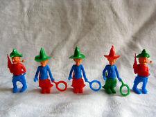 5 figurines publicitaires - cowboys grottesques KINDER surprises démontables