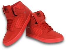 Mens Designer Hi Tops Trainers New Boys High Ankle cash money Red Pumps Shoes