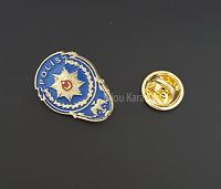 Türkische Polizei Wappen Rozeti Rozet Anstecknadel Selcuklu Türk Polis Pin Gold