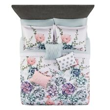 10 Piece Queen Size Floral Bed in a Bag Bedding Set Com 00006000 forter Bedding Sheets
