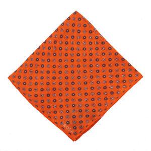 NWT RODA for Rose & Born Orange Floral Jacquard Print Linen Pocket Square