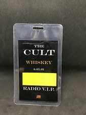 The Cult Whiskey 6.5.01 Authentic Radio Vip Pass