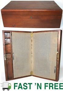 Antique Wooden Table Top Secretary Desk, Stationary Cabinet, Tabletop ~ $0 Ship