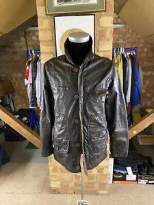 Levis Dark Brown Wax Effect Jacket Coat Size M