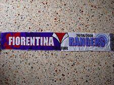 sciarpa FIORENTINA - GLASGOW RANGERS europa league 2008 club calcio scarf a1
