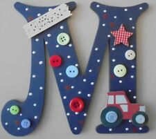 Tractor Personalised *ANY LETTER & NAME* childs kids Room Door Sign Plaque reddb
