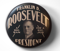 Franklin D. Roosevelt FDR Campaign - pin pinback button - FREE Shipping