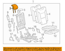 GM OEM Rear Seat-Headrest Head Rest 23308901