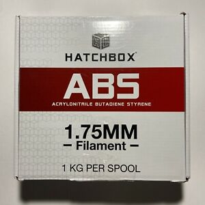 1kg spool (2.2lb) HATCHBOX ABS 1.75mm FILAMENT FOR 3D PRINTING TRUE WHITE sealed