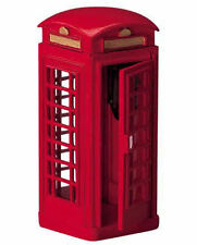 Lemax Decoration Red Telephone Box,Christmas Cake Decorating Phone Booth Figure