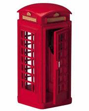 LEMAX Decoración Rojo Teléfono Caja, Navidad Decoración De Pasteles Figura de cabina de teléfono