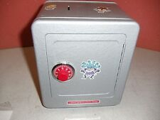 "Iron Coin Collector Lock Box, 6.75"" L x 8"" H x 6""D"