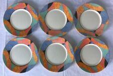 Lot1 De 6 Petites Assiettes Arcopal Vintage France D 19,5 Cm Décor Rétro