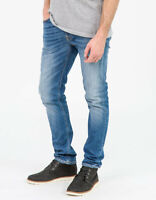 Nudie Herren Slim Tapered Fit Röhren Stretch Jeans Hose | Lean Dean Shelter Worn