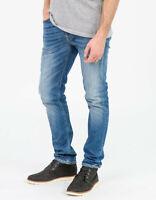 Nudie Herren Slim Tapered Fit Röhren Stretch Jeans Hose | Lean Dean Shelter Worn