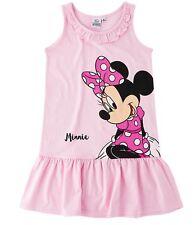 kleidchen Túnica Niñas Minnie Mouse Ratón Vestido Rojo Rosa 104 116 128 134 140