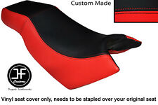 BLACK & RED VINYL CUSTOM FOR KYMCO CK PULSAR 125 OLD SHAPE DUAL SEAT COVER ONLY