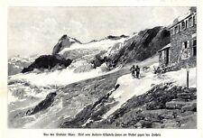 Empress Elisabeth House 1904 art print Stubai Alps valley Tyrol mountains