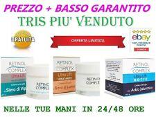 RETINOL COMPLEX 3CREME ANTIRUGHE CREMA BAVA LUMACA SIERO VIPERA ACIDO JALURONICO