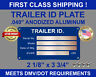 TRAILER ID VIN TAG SERIAL NUMBER DATA (BLANK) PLATE INCLUDES (4) RIVETS U.S.A.