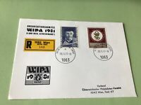 Austria Wipa 1981  Wien Registered stamps cover ref 50587