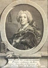 Nicolas de Largillierre (1656-1746) d'après Ipsum gravure par Will XVIIIe