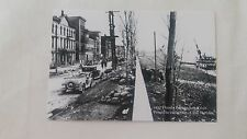 NEW POSTCARD 1937 FLOOD FRONT ST. PORTSMOUTH, OHIO OH SHOWING PORTSMOUTH HOTEL