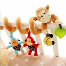Adorable Monkey Jungle Animals Bell Baby Music Bed Hanging Cribs Toy-baby Childr