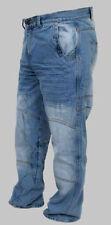 Pantalones de denim de rodilla para motoristas de hombre