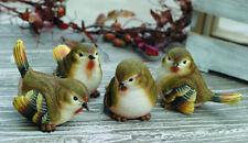 Mini Resin Wood Warbler Bird Figurine Set of 4