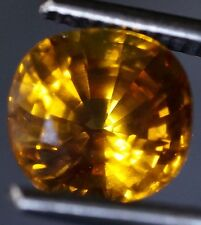 5.45ct. 9.55x9.09x7.34 mm AGL Certified Bright YELLOW SAPPHIRE, High Luster