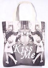 50s Sailor Kiss rockabilly pin up retro Seemanns Kuss Canvas Tasche Shopper