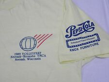 VTG 1989 YMCA Pepsi Volleyball T shirt Neenah Menasha WI Large?
