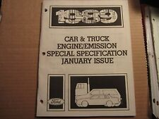 1989 Ford Lincoln Mercury Mustang truck engine/emission specification manual