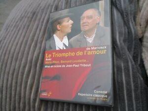 """DVD """"LE TRIOMPHE DE L'AMOUR (MARIVAUX)"""" Marie PITON, Bernard LAVALETTE / theatre"""