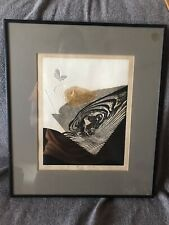 Japanese Woodblock Print - Reika Iwami - Butterfly in the Valley - 73/100 Rare