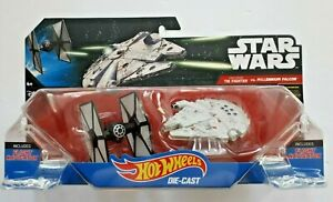 Star Wars First Order TIE Fighter Vs. Millennium Falcon Hot Wheels