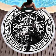 Black Label Society Squad Worldwide Side Round Beach Towel Tapestry Yoga