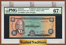"TT PK 61aCS2 1977 JAMAICA 5 DOLLARS ""COLLECTOR SERIES SPECIMEN"" PMG 67 EPQ"